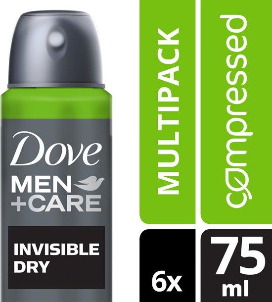 Dove Men+Care Invisible Dry Deodorant - 6 x 75 ml - Voordeelverpakking