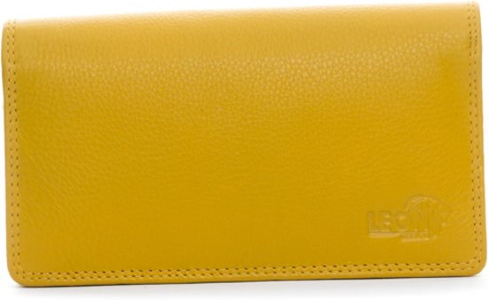 8d0d1431f5c bol.com | LeonDesign - 16-W784 - dames - portemonnee - mosterd Geel ...