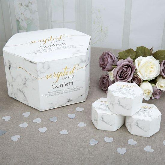 Scripted Marble Tissue Confetti (21 doosjes) Valentinaa