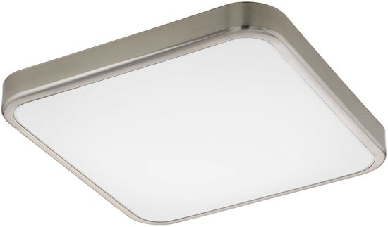EGLO Batholino Manilva 1 - Wandlamp - 1 Lichts - Nikkel-Mat - Wit