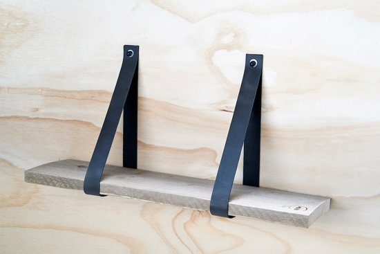Plank 90 Cm.Bol Com Leren Plankdragers Antraciet Inclusief Plank 90 Cm