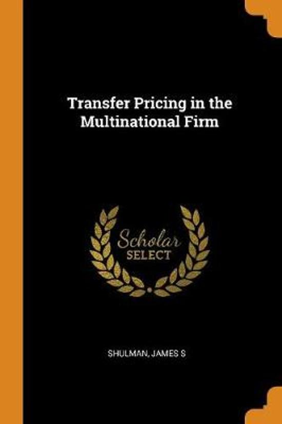 Transfer Pricing in the Multinational Firm