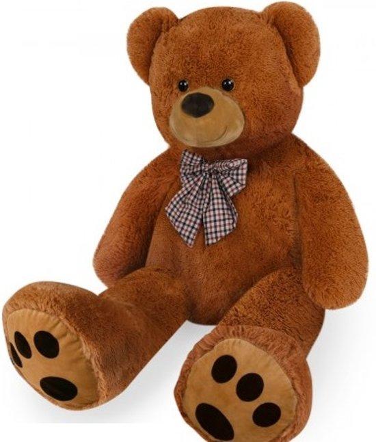 Teddybeer, 150 cm, knuffelbeer, teddy XXL , knuffel, beer, bruin