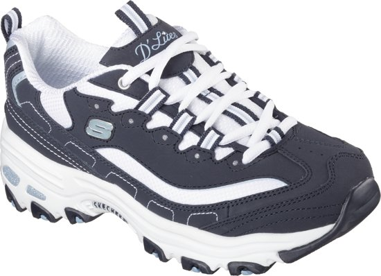 Skechers D'Lites-Biggest Fan Sneakers Dames - Navy White - Maat  41