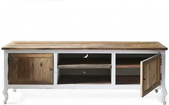 Riviera Maison Stijl Tv Meubel.Riviera Maison Driftwood Flatscreen Side Table Tv Meubel 180 X 45 X 65 Cm Wit Hout