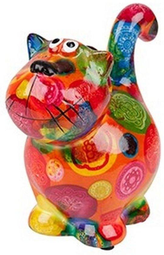 Pomme Pidou brilhouder kat Dorothy - Uitvoering - Oranje met gekleurde stippen
