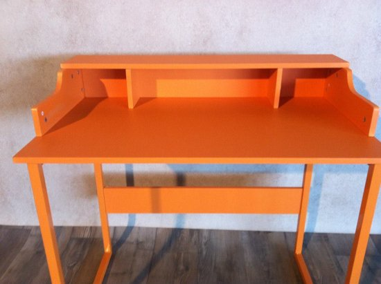retro bureau 90 cm oranje. Black Bedroom Furniture Sets. Home Design Ideas