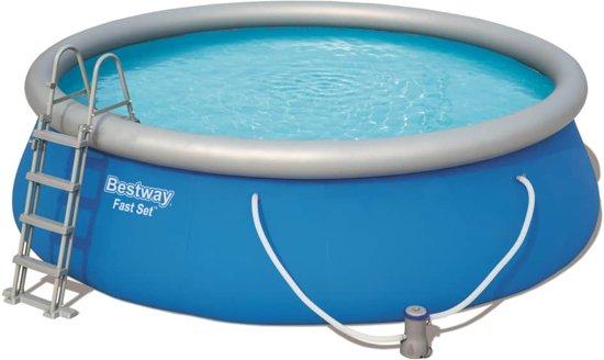 Bestway Fast Set Zwembadset opblaasbaar rond 457x112 cm 57289