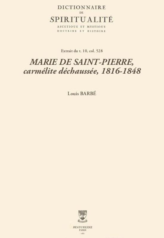 Afbeelding van MARIE DE SAINT-PIERRE, carmélite déchaussée, 1816-1848