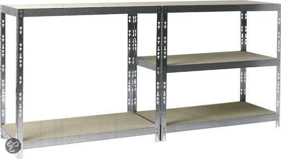 Metalen Rekken Kelder.Opbergrek Standaard Metaal 875 Kg Draagkracht Monteren Zonder Schroeven