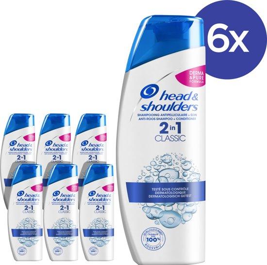 Head & Shoulders Classic 2-in-1 Anti-roos - Voordeelverpakking 6x270ml - Shampoo en Conditioner