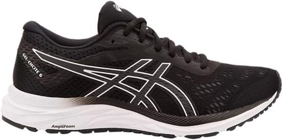 Asics Gel-Excite Sportschoenen Dames - Black / White - Maat 38