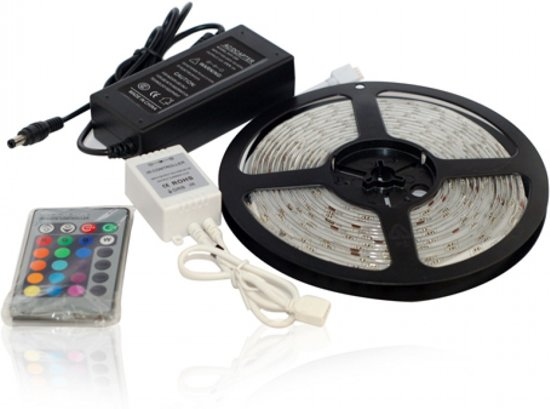RGB Led strip – 5m – Incl afstandsbediening