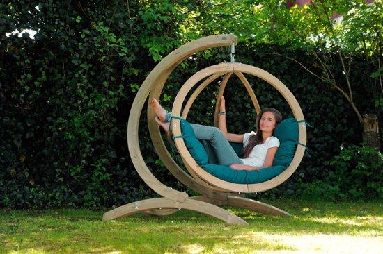 Hang Schommelstoel Tuin : Bol.com amazonas globo chair hangstoel groene kussens luxe