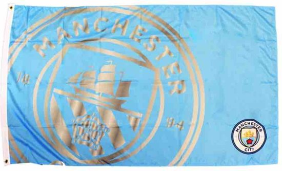 Manchester City Team Colour React Flag