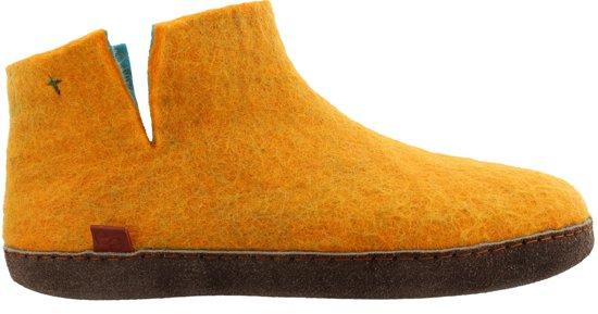 maat Pantoffels Nepalese Oranje Tofvel 36 Handgemaakte x1Eqf66I