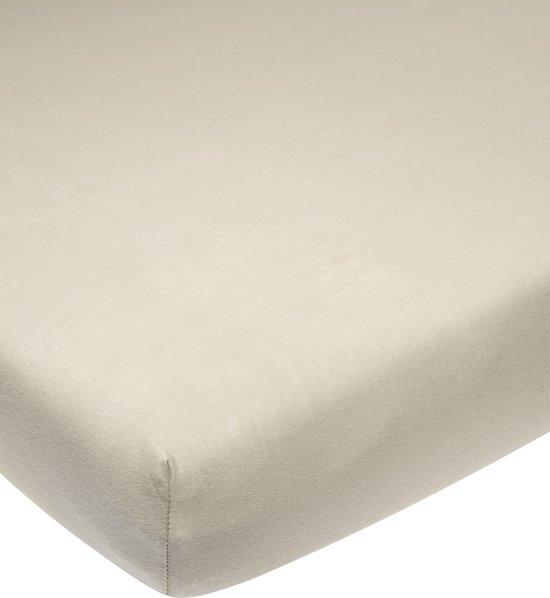 Meyco jersey hoeslaken boxmatras - 75x95 cm - zand