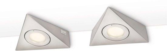 Philips Mykitchen Etoile - Keukenverlichting - Aanrecht - 2 Lichts - Grijs
