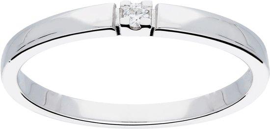 Glow - Witgouden ring met steen G/SI