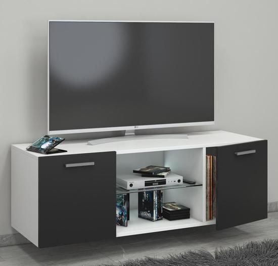 Tv Kast Zwart Wit.Bol Com Hangend Zwevend Tv Meubel Jusa Wit Zwart