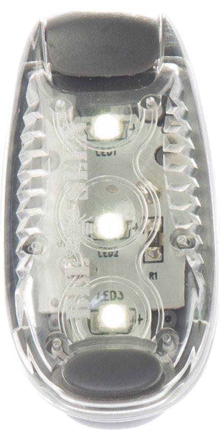 Bee Seen - Verlichting  - Led Clip Light - Wit - LED  - one size - Hardlopen - Jogging - Hardloop verlichting - Hardloop lampje - Veiligheid - Hond