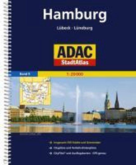 ADAC Stadtatlas Hamburg mit Lübeck, Lüneburg 1:20 000