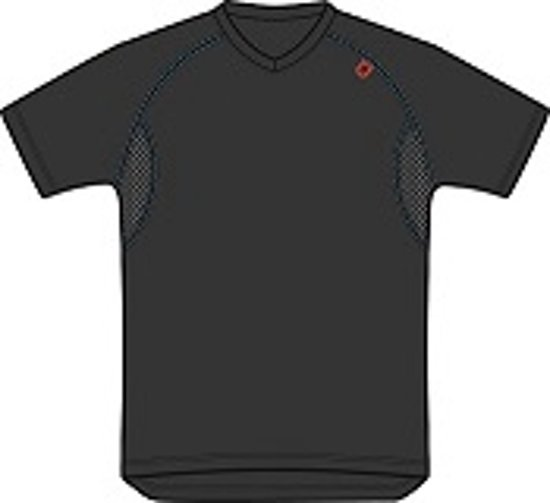 Vidar thermo shirt short sleeve V-Neck XL 1107-Black