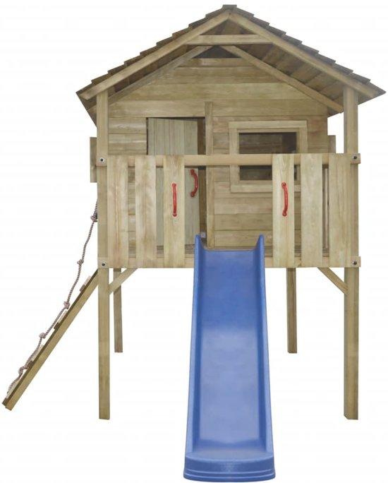 vidaXL Speelhuis met ladder en glijbaan 360x255x295 cm hout