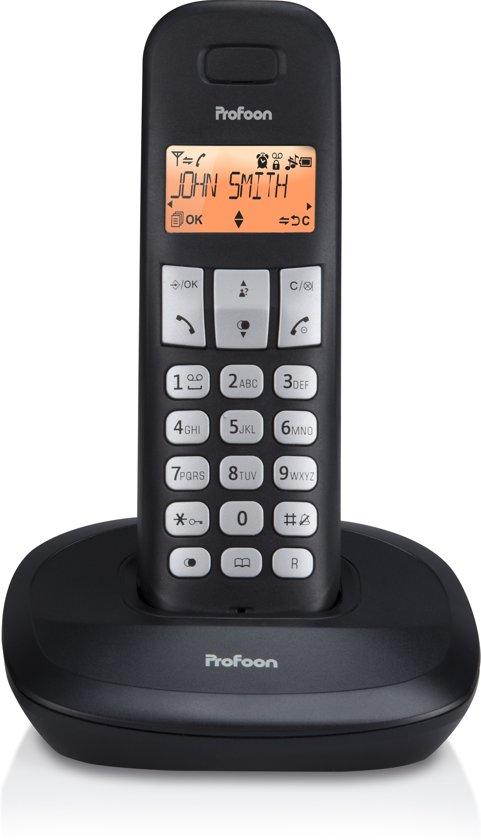 Profoon PDX-1100 DECT telefoon   Duidelijk verlicht display   Zwart