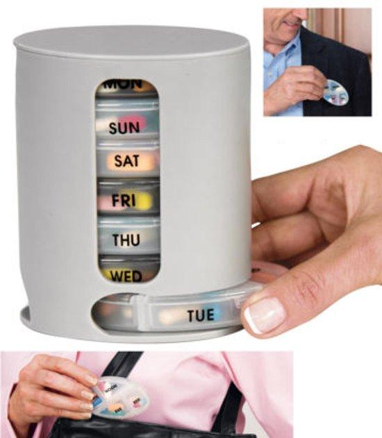 Grote 7 Dagen Pillendoos.Xxl Pillendoos Week Medicatiedoos 7 Dagen 4 Compartimenten