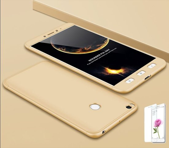 Teleplus Xiaomi Mi Max 2 360 Full Protected Cover Gold + Glass Screen Protector