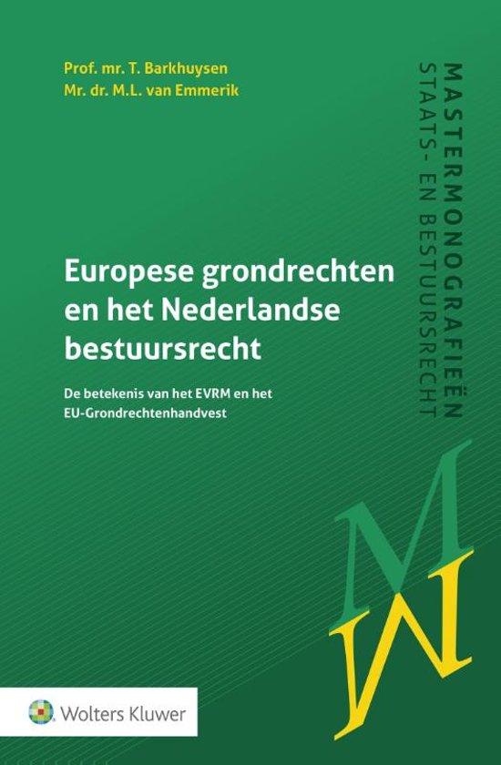 Boek cover Europese grondrechten en het Nederlandse bestuursrecht van T. Barkhuysen (Paperback)