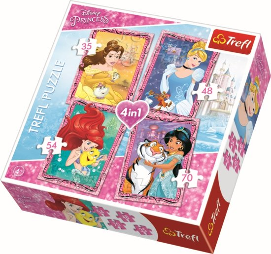 4 in 1 -  Disney Prinsessen Puzzel