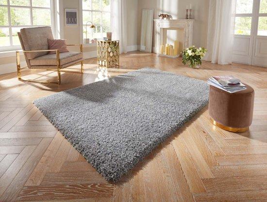 Hoogpolig vloerkleed Talence Elle Decor - grijs 200x290 cm