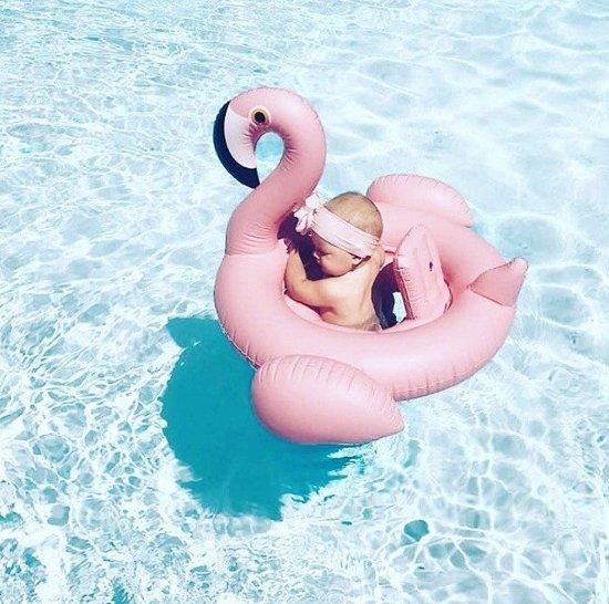 Baby opblaas flamingo