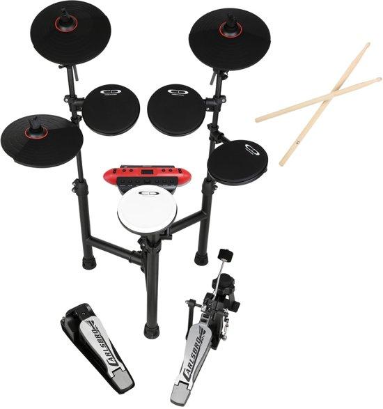 Elektrisch drumstel - Carlsbro CSD130R elektrisch drumstel met drumstokken - Compact en opvouwbaar - Direct drummen!