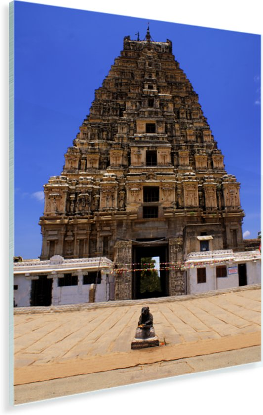 Leeg plein voor de Virupaksha tempel in India Plexiglas 40x60 cm - Foto print op Glas (Plexiglas wanddecoratie)