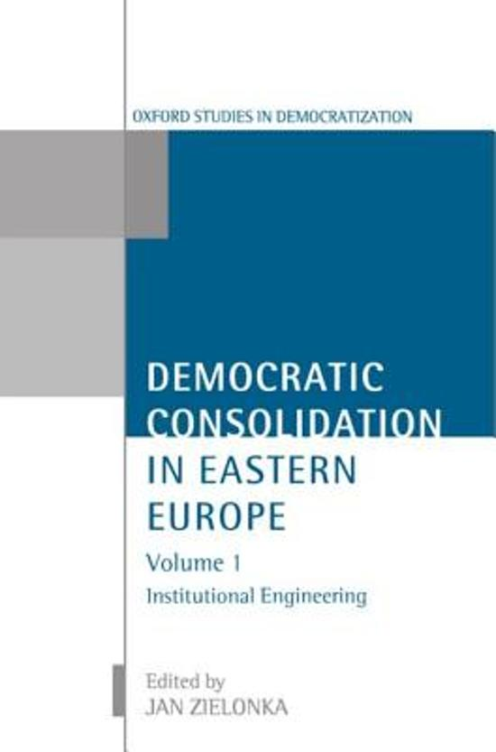 Democratic Consolidation in Eastern Europe