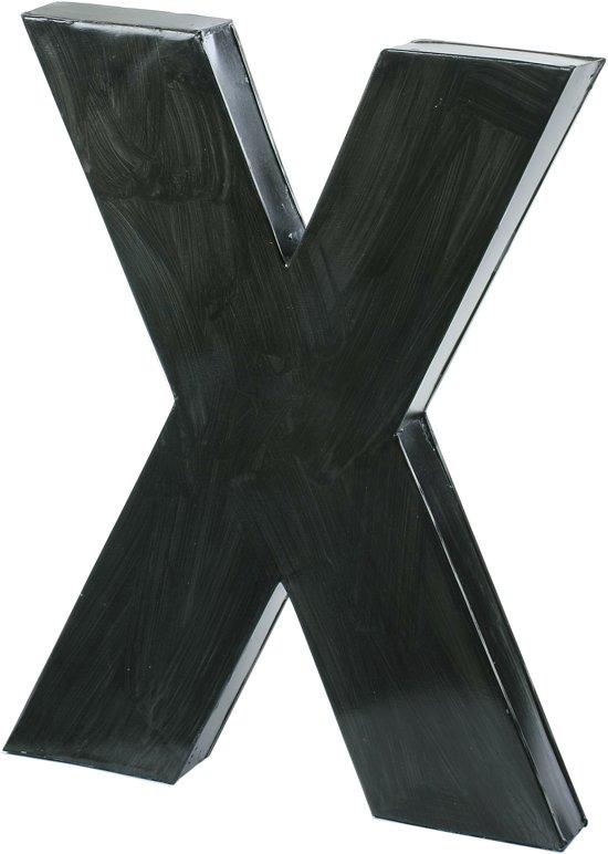 Vtwonen letter x blauw zink - Kleur grijs zink ...