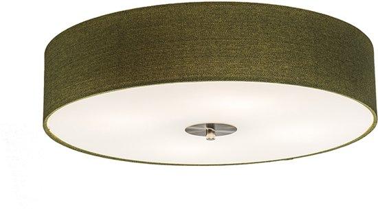 QAZQA Drum 50 - Plafondlamp met lampenkap - 4 Lichts - Ø50 cm - groen