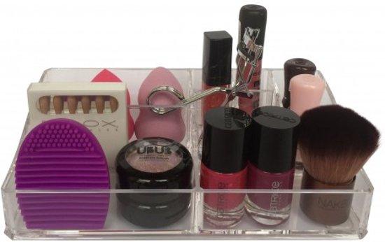 BEAUTYCUBE - Beauty organizer - Make-up organizer - Acryl Organizer Transparant / Clear zonder lades make up opbergen - make up opbergbox / opbergbak / opbergsysteem