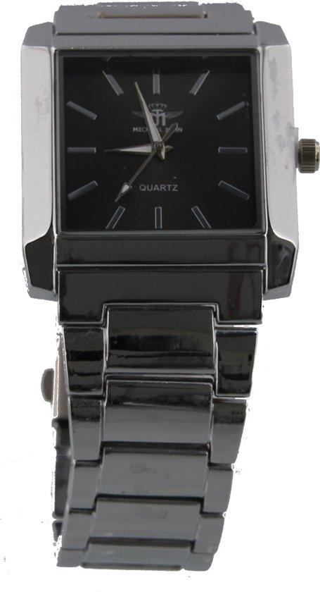 Welp bol.com | Horloge Vierkant - Quartz - Metaal - Kast 40x35mm LU-44