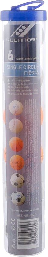 Rucanor Tafeltennisballen - wit/oranje/zwart