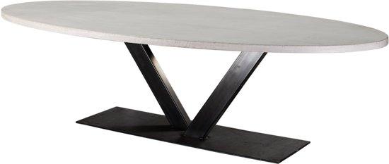 Ronde Betonnen Tafel.Table Du Sud Beton Ovale Tafel V Poot 240x120