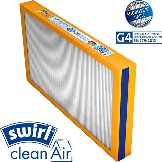 Swirl® G4 WTW vervang filter voor Brink Renovent HR 250 & 325 M/L met Bypass, Viessmann Vitovent 300 (260m³),  Ubbink Ubiflux met Bypass; in Halvinkhuizen