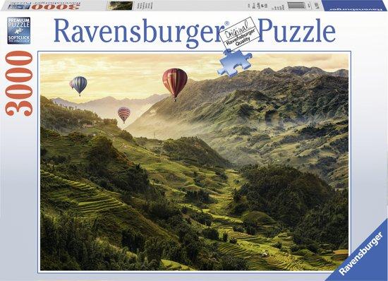 Ravensburger puzzel Rijstterrassen in Azië - legpuzzel - 3000 stukjes