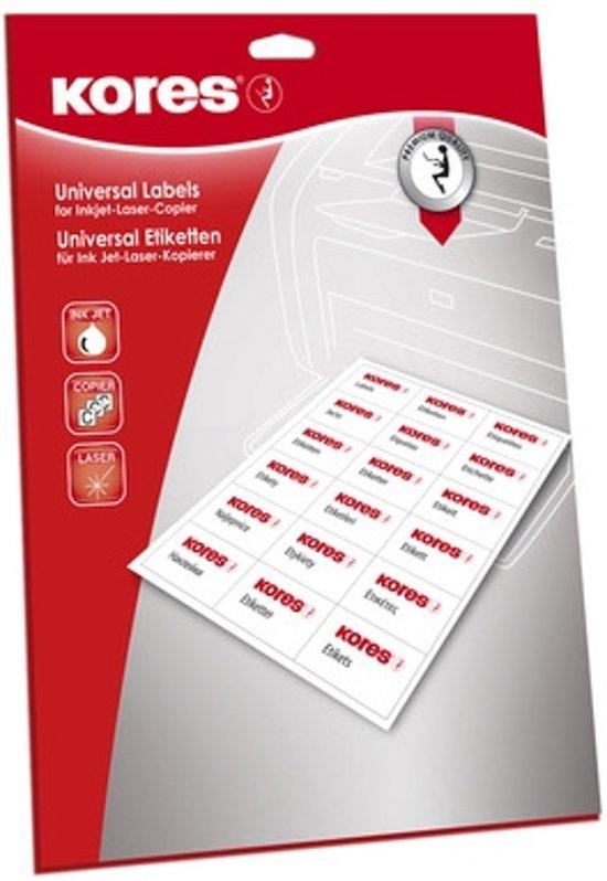Etiket Kores ILK 105x57mm recht doos a 25 vel 10 Etiketten per vel