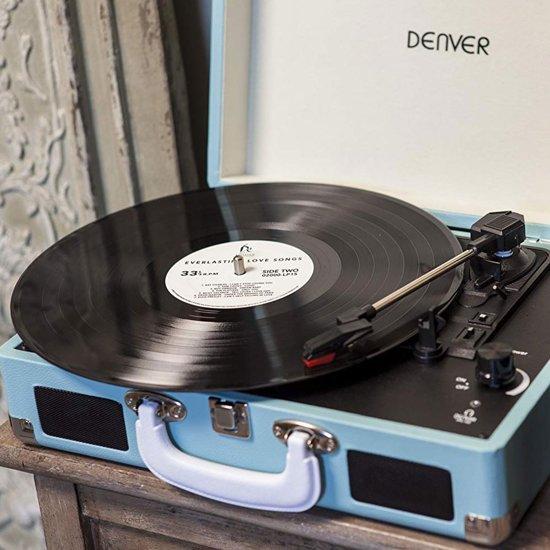 Denver VPL-120Retro USB Platenspeler + 20 LpâsTurquoise