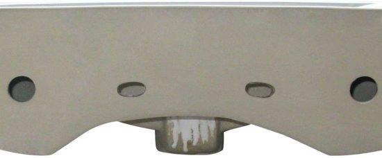 Luxe keramische rechthoekige wasbak met kraangat 60 x 46 cm (wit)