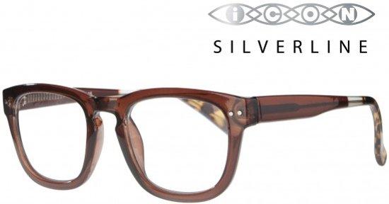 Icon Eyewear KCA710 Celiotti, Silverline Leesbril +1.00 - Helder Bruin